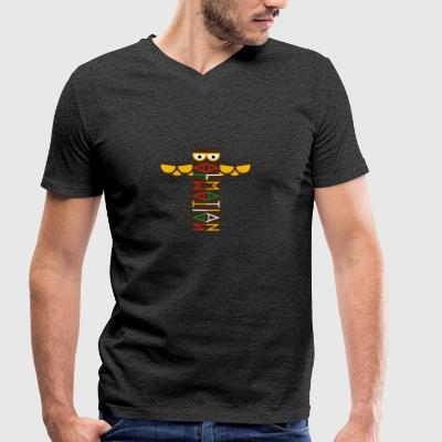 Dalmatian Color Totem Pole - Men's Organic V-Neck T-Shirt by Stanley & Stella