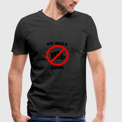 NO BULLY ZONE - Men's Organic V-Neck T-Shirt by Stanley & Stella