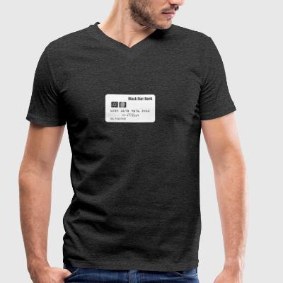 Spacecard wite - Men's Organic V-Neck T-Shirt by Stanley & Stella