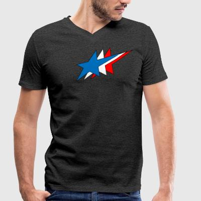 Stars - Men's Organic V-Neck T-Shirt by Stanley & Stella