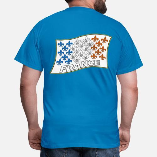 9cdbf50154c7a France Drapeau fleurs de lys T-shirt Homme   Spreadshirt