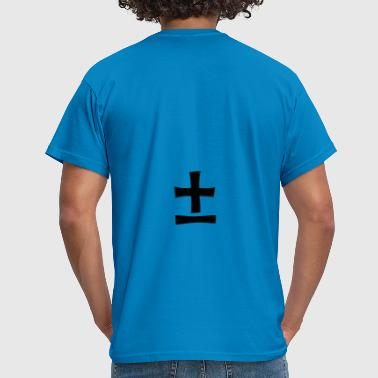 Plus Minus Plus minus. Mathematics, symbols - Men's T-Shirt