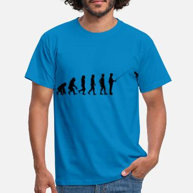 Fisherman Fishing in evolution design - Men's T-Shirt