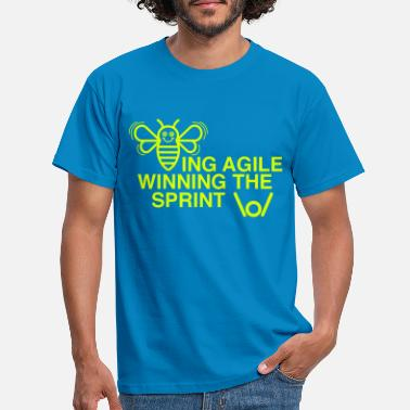 Winning BEING AGILE WINNING sprintin - Miesten t-paita