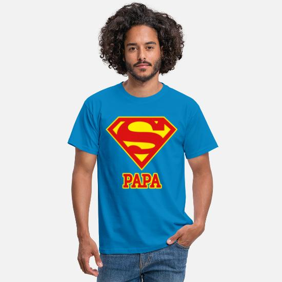Papa T-shirts - DC Comics Superman Logo Papa - T-shirt Homme bleu royal