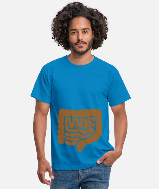 Coma T-Shirts - Look Ma... my intestine, route to #2 - Men's T-Shirt royal blue