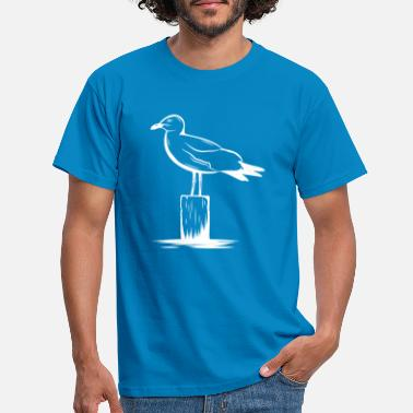 Coast Seagull seagull north german coast hanseatic gift - Men's T-Shirt
