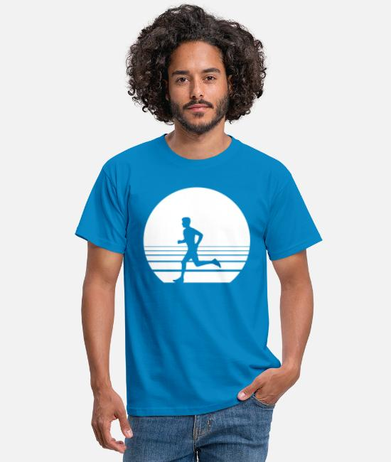 Runner T-Shirts - Runner Sundown - Men's T-Shirt royal blue