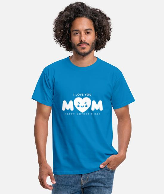 Mexican T-Shirts - MOM you are my hero Design - Men's T-Shirt royal blue