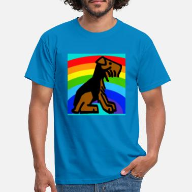 Welshie Rainbow Presley Cartoon Sketch2 - Men's T-Shirt