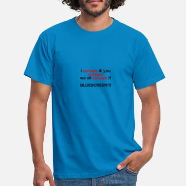 Pc The blue hour on the PC - Men's T-Shirt