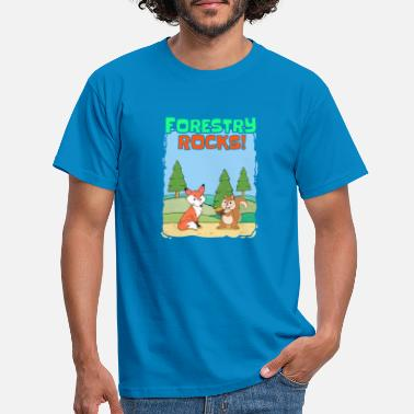 Ranger Fox squirrel forest ranger forest nature forests - Men's T-Shirt