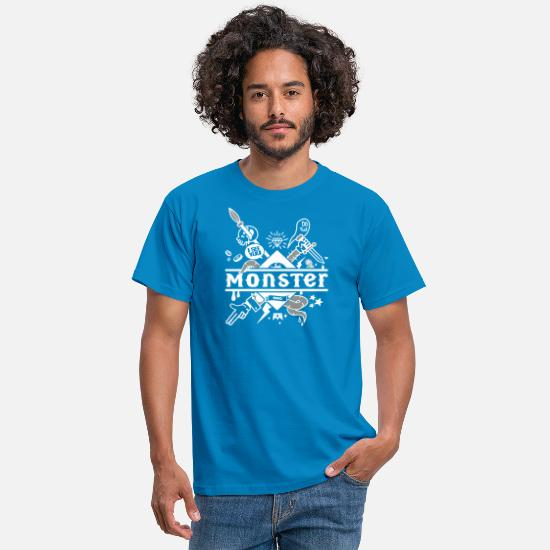 Bestsellers Q4 2018 T-shirts - monster - T-shirt Homme bleu royal