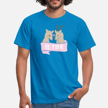 Rehkitz Be mine Rehe - Männer T-Shirt