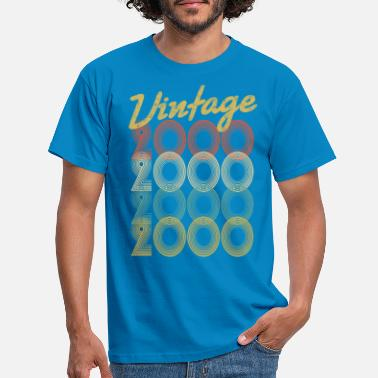 Vintage 2000 vintage retro since 2000 birthday gift - Men's T-Shirt