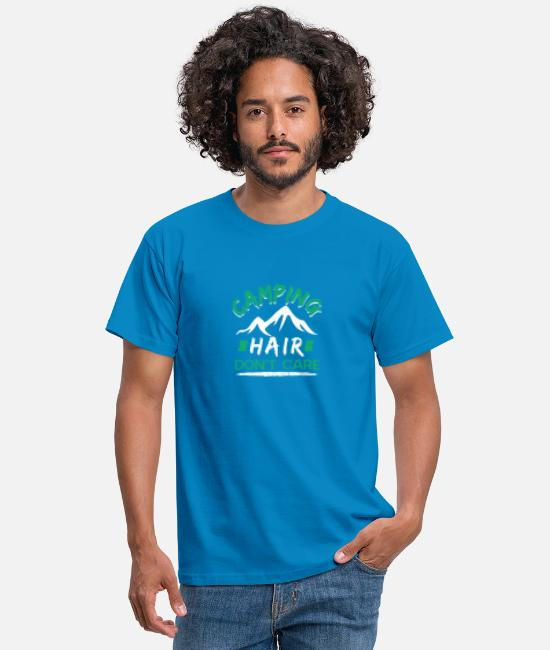 Hair T-Shirts - Camping hair - Men's T-Shirt royal blue