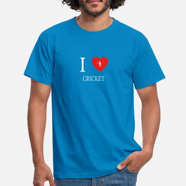 Love Cricket I Love CRICKET cricket - Men's T-Shirt