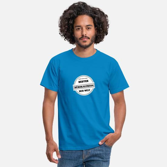 Office T-Shirts - Gift for the office salesman - Men's T-Shirt royal blue