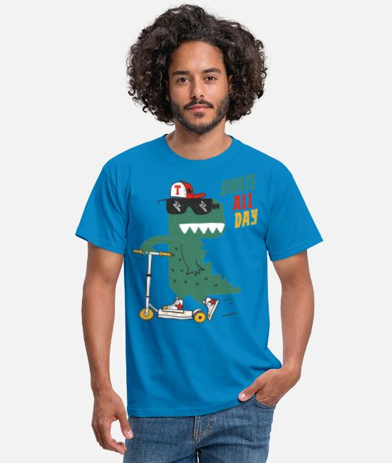 Alligator T-Shirts - Skating Alligator - Männer T-Shirt Royalblau