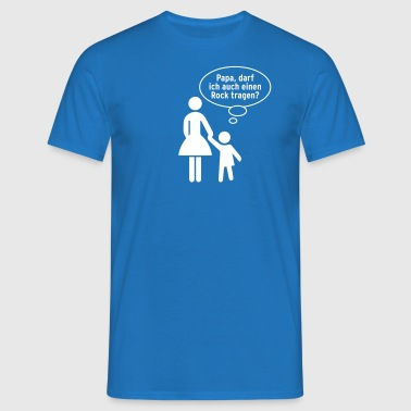 Mama Papa Kind Rock Kleid Schild Gay Kindermund - Männer T-Shirt