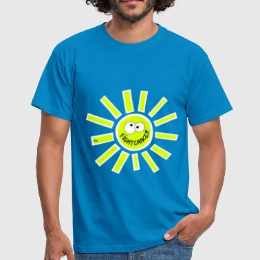 Fight Cancer Statement Krebs Krankheit Sonne Sun - Mannen T-shirt