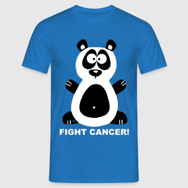 Fuck Fight Cancer Krebs Brustkrebs Panda Bär - Männer T-Shirt