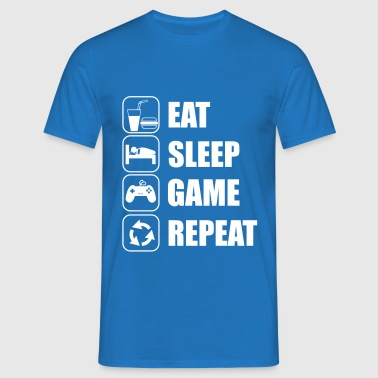 eat sleep game geek - T-shirt Homme