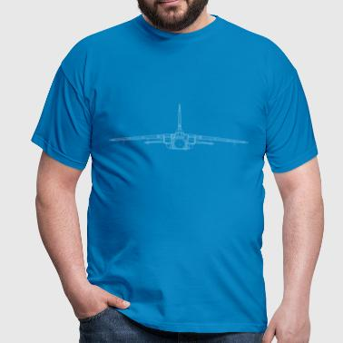 tornado jet fighter white front - Männer T-Shirt
