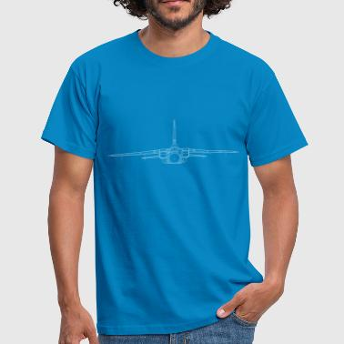 Airplane tornado jet fighter white front - Men's T-Shirt