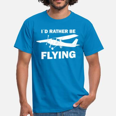 Airplane Flying Pilot fly airplane gift - Men's T-Shirt