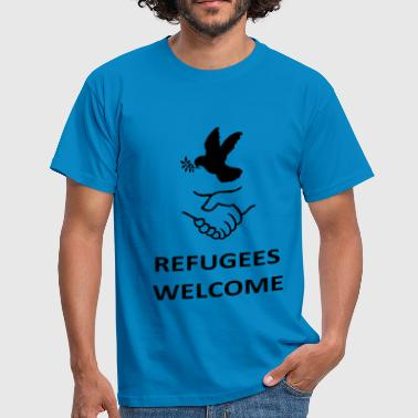 Tribal Peace Love Refugees Welcome - Men's T-Shirt