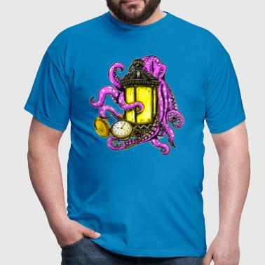 steampunk octopus - Men's T-Shirt