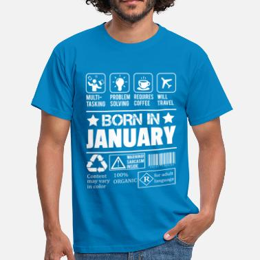 Legends Are Born In January Born In January - Men's T-Shirt