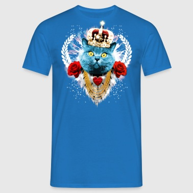 Blue Cat Le Roi - couronne de lauriers roses de - T-shirt Homme