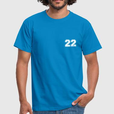 Number 22 22 centimeter - Men's T-Shirt