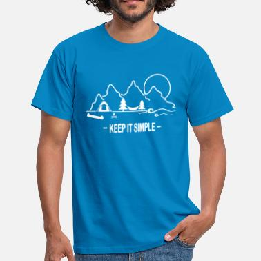 Simple KEEP IT SIMPLE MOUNTAIN 2 / camping, camping, canoë - T-shirt Homme