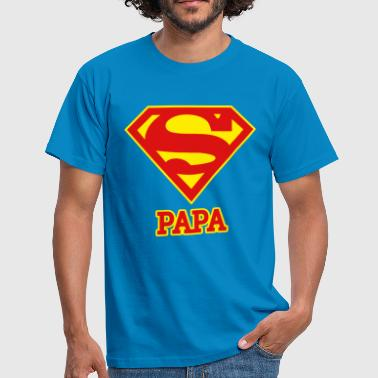 Superman Logo Superpapa Papa - Männer T-Shirt