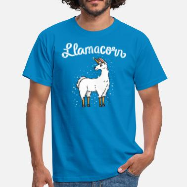 Witty Lamacorn funny llama mythical creature shirt gift - Men's T-Shirt
