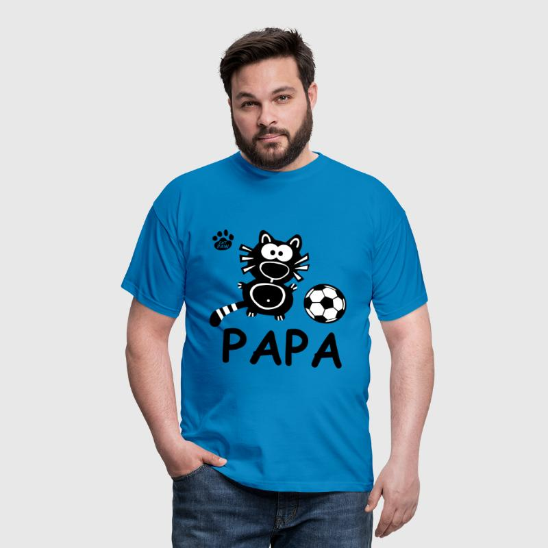 Catpaw Cat Cats Comic Papa Vater Daddy Fußball  - Camiseta hombre