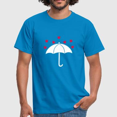 Antiliebe let it rain love - Männer T-Shirt