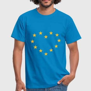 Europe Europe Heart (I Love Europe) - Men's T-Shirt