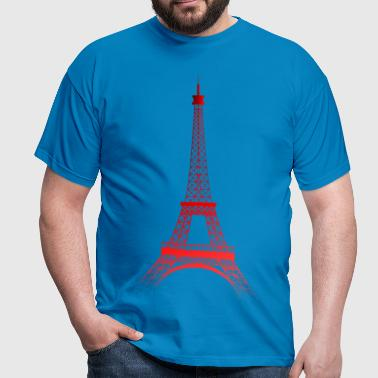 Tour Eiffel PARIS (rouge) - T-shirt Homme