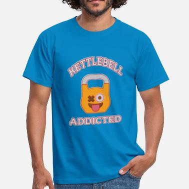 Jerk Kettlebell Addicted - Men's T-Shirt