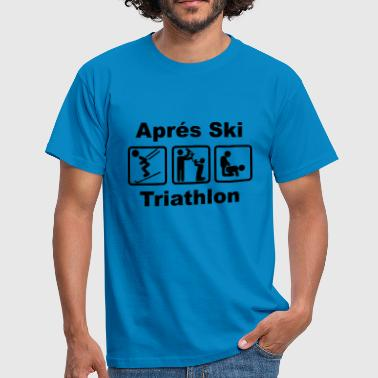 Afterski Triathlon - T-skjorte for menn