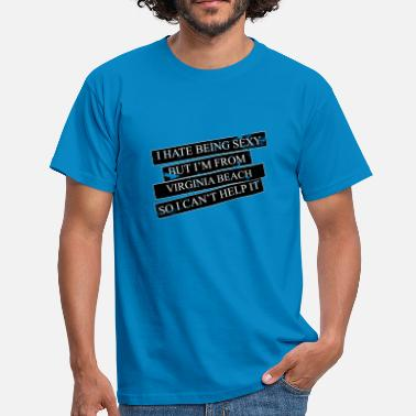 Virginia Beach Motive for cities and countries - VIRGINIA BEACH - Men's T-Shirt