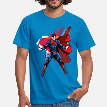 Superhelden Superman Pose Männer T-Shirt - Männer T-Shirt