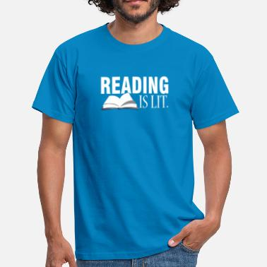 Illuminations Reading is illuminated - Men's T-Shirt