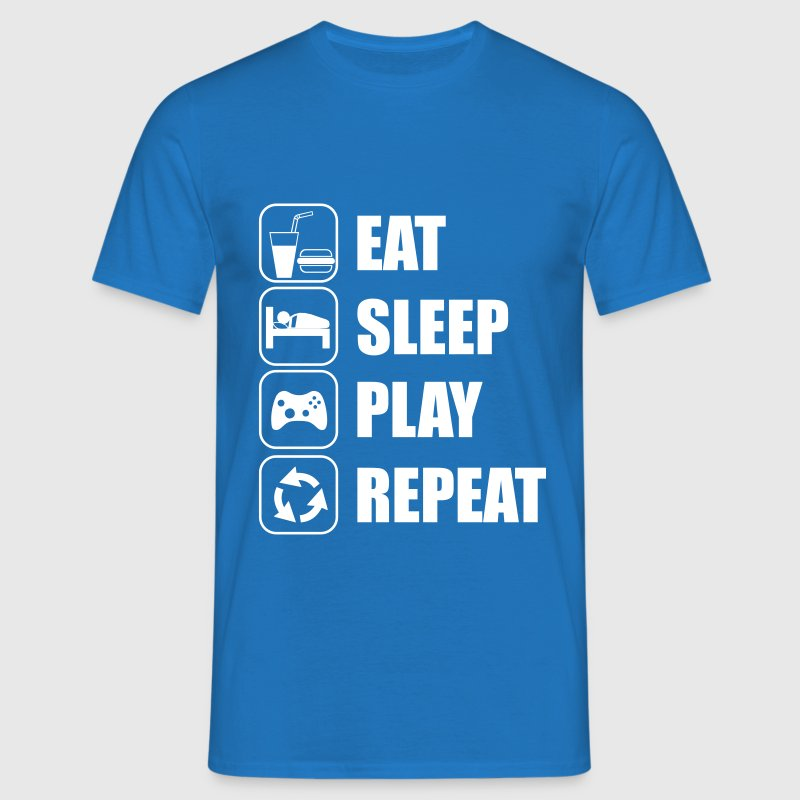 Eat Sleep Play Repeat - Mannen T-shirt