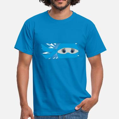 Starburst Blue Masked Ninja Strip with Starburst - Men's T-Shirt