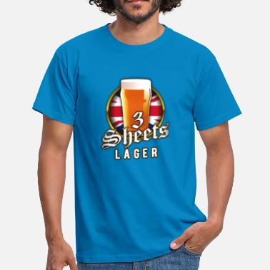 Lager Beer Shirt Design 3 Sheets Lager - Men's T-Shirt